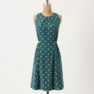 Anthropologie Girls from Savoy Blue Green Dress 8